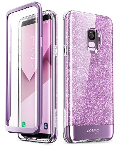 i-Blason Cosmo Series Designed for Galaxy S9 Case, Full-Body Bumper Protective Case with Built-in Screen Protector for Samsung Galaxy S9 2018 Release (Purple)
