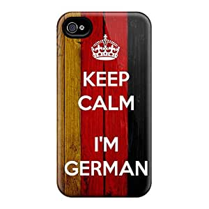 Excellent Design Keep Calm I'm German Case Cover For Iphone 4/4s