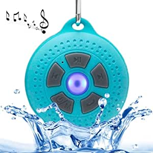 Waterproof Bluetooth v2.1 Speaker with D-shape Buckle, Support TF Card / Hands-free (Blue)