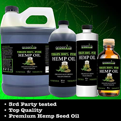 51bzjTyTDTL - GreenIVe - Hemp Oil 910,000mg - Anti-Inflammatory - Vegan Omegas - Cold Pressed - Exclusively on Amazon (32 Ounce)