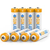 SunLabz AA Rechargeable Batteries, Ultra-Efficient NiCD, 8 Pack
