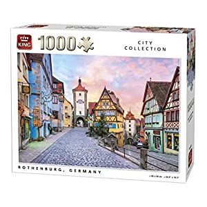 King 5649 Rothenburg City In Germany Puzzle Da Pezzi 68 X 49 Cm