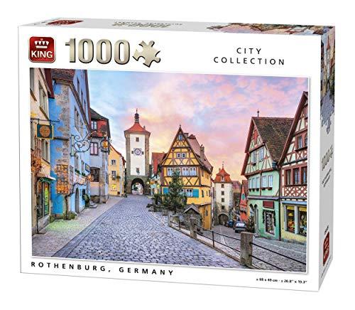 KING 5649 Rothenburg City in Germany Jigsaw Puzzle 1000-Piece, 68 x 49 cm