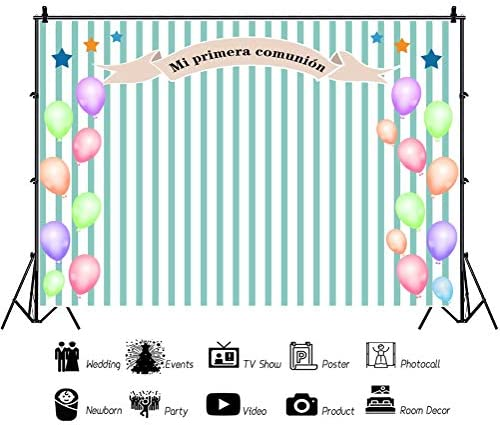 Yeele 5x3ft First Communion Backdrop Kids Baptism Christening Celebration Photography Background Church Events Baby Shower Cake Dessert Table Decor Decoation Banner Photo Booth Wallpaper
