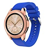 Digood Soft Silicone Watch Band Replacement Band Strap for Samsung Galaxy Watch 42mm (Blue)