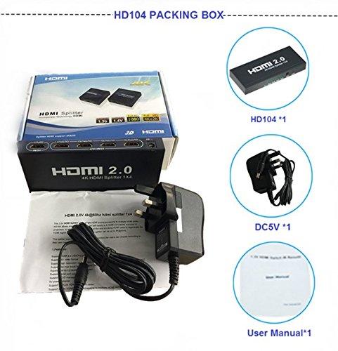 Zoetec True 4K UHD HDMI 2 0 HDCP 2 2 Bypass 4Kx2K 1 Input x