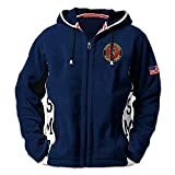 USMC Semper Fi Men's Hoodie - Hooded Fleece Jacket: L by The Bradford Exchange