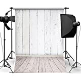 MOHOO White Wood Backdrop Photo Background Wood Backdrops for Photography Photo Studio Prop 5X7FT Silk
