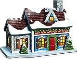WREBBIT 3D Christmas Village 3D Panel Puzzle