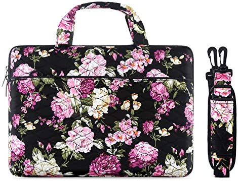 Peony MOSISO Laptop Shoulder Bag Compatible with 2019 2018 MacBook Air 13 A1932 Retina//MacBook Pro 13 A1989 A1706 A1708 USB-C 2018 2017 2016//Surface Pro 6//5//4//3 Canvas Ripple Briefcase Sleeve