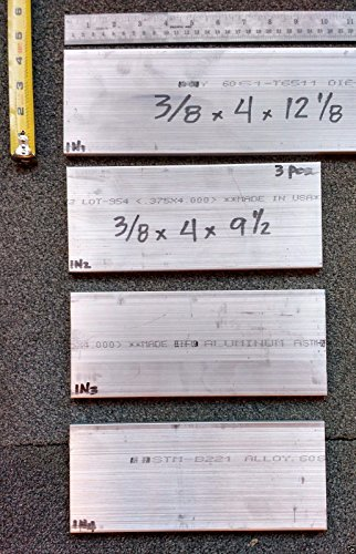 Lot 1N , 4 Pcs Aluminum Plate Bar 3/8