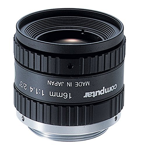 Computar M1614-MP2 2/3 Inch Megapixel 16mm Lens with Fixed Focal Length F1.4 Manual Iris