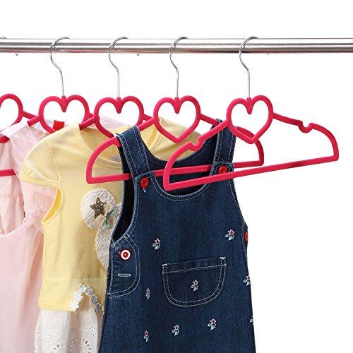 Ollieroo Children Size Flocked Velvet Kids Hangers Super