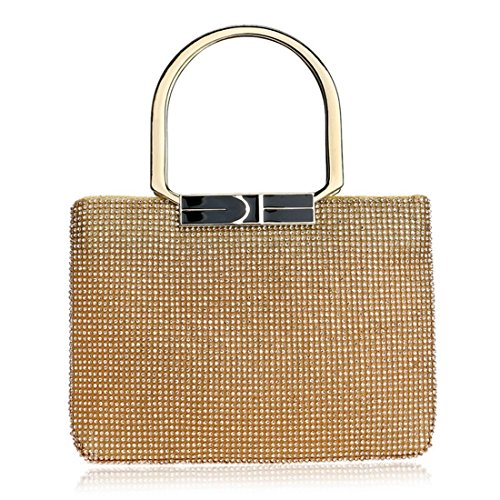 Ladies Evening Party Silver Rhinestone Luxury Clutch Gold Handbag Purse Tote Color Women Diamond KERVINFENDRIYUN Bag wnBYvqxIS