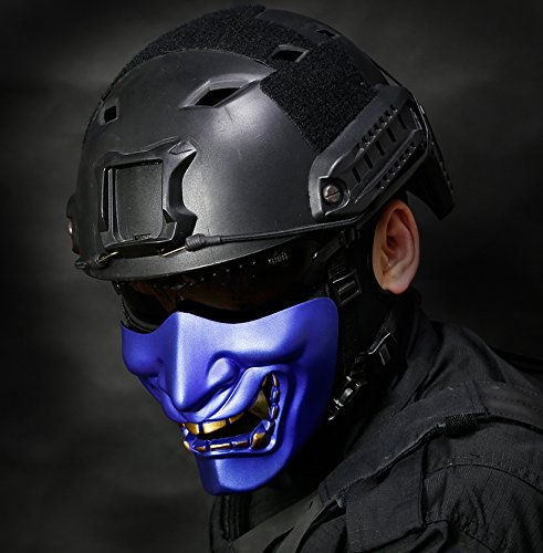 OUTRY-Half-Face-Mask-One-Size-Fits-Most-Lower-Face-Protective-Mask-for-Airsoft-Paintball-BB-Gun-CS-Game-Hunting-Shooting-Ideal-Mask-for-Halloween-Cosplay-Costume-Party-and-Movie-Prop