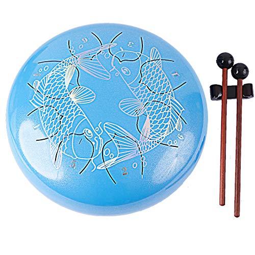 Lronbird Professional Pan Drum – Steel Drum – Hand Drum – Finger Steel Drums – Jamaican Drum – Percussion Instrument – Steel tongue drum with Padded Travel Bag, Book, Mallets, Finger Picks (Blue)