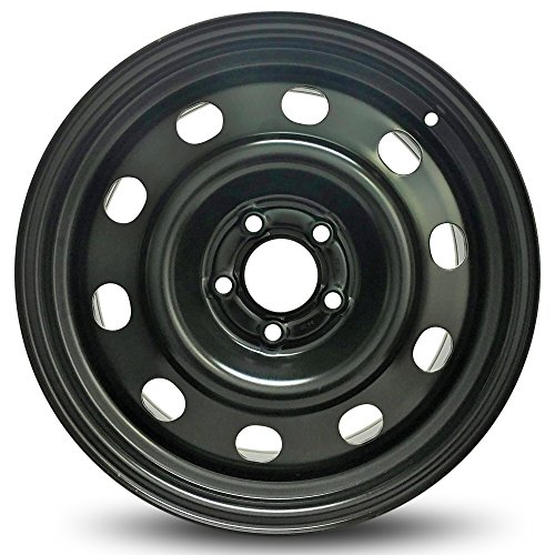 Road Ready Car Wheel For 2006-2011 Ford Crown Victoria 17 Inch 5 Lug Black Steel Rim Fits R17 Tire - Exact OEM Replacement - Full-Size Spare