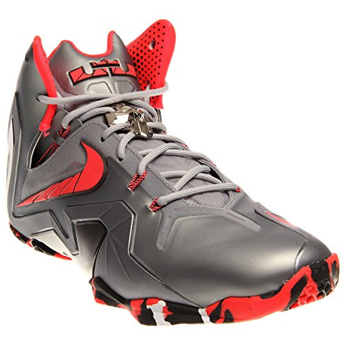 573d537058375 Men s Nike LeBron 11 Elite Team Collection Basketball Shoes Wolf Grey Laser  Crimson-Cool Grey-Black 642846-001 (13) - Buy Online in Oman.