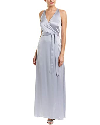 110ab74fa5b3e Image Unavailable. Image not available for. Color: Diane von Furstenberg  Womens Full-Length Wrap Dress, 2, Grey