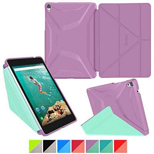 Google Nexus 9 Case  Roocase Origami 3D Slim Fit Thin Lightweight Folding Leather Pu Folio Cover Stand Orchid Mint