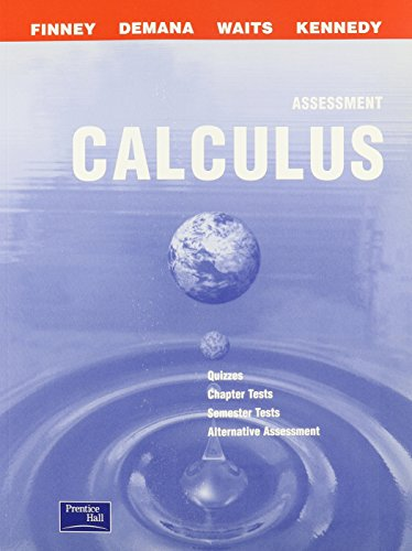 CALCULUS 2ND EDITION ASSESSMENT 2003C