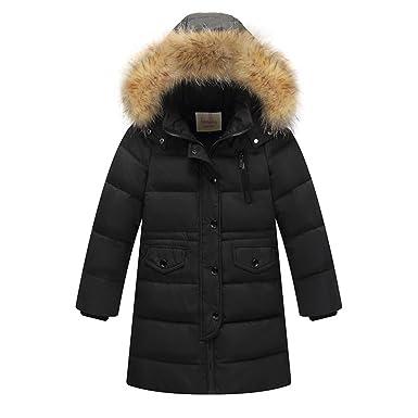 Gaçon Mi Enfant Doudoune D'hiver Neige Lserver Fille Long Manteau R6xEwfSZq