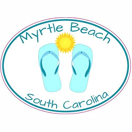 U s custom stickers myrtle beach south carolina flip flop decal 3
