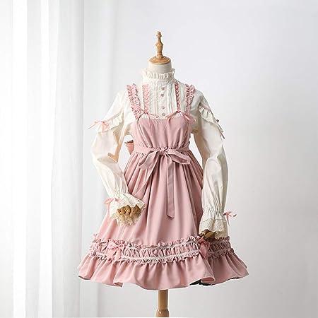 WJX Vestido de niña, Vestidos de Lolita, JSK Camisa, Desfile Plisado Vestidos, niños Prom Ball Vestido, Fiesta de Dama de Honor Vestidos de Princesa Trajes, día de Pascua de los niños,Pink,S: Amazon.es: