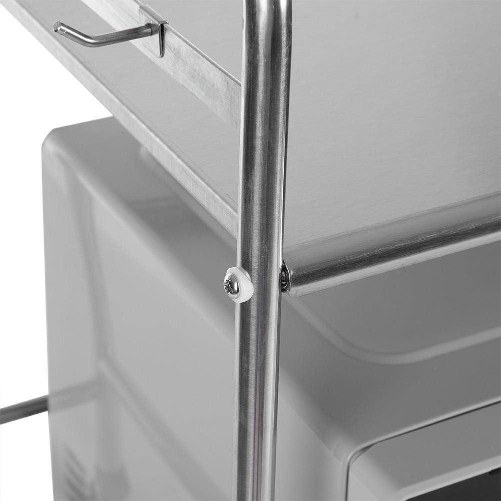 Mikrowelleregal Küchenregal Mikrowellenhalter Gewürzregal schrank 2 Schichten