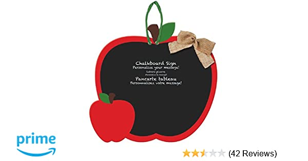 Amscan | Party Supplies | Apple Chalkboard Sign | (Pack of 1) 12 3/4