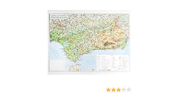 Mapa en relieve de Andalucía: Escala 1:1.200.000: Amazon.es: All 3D Form, S.L.: Libros