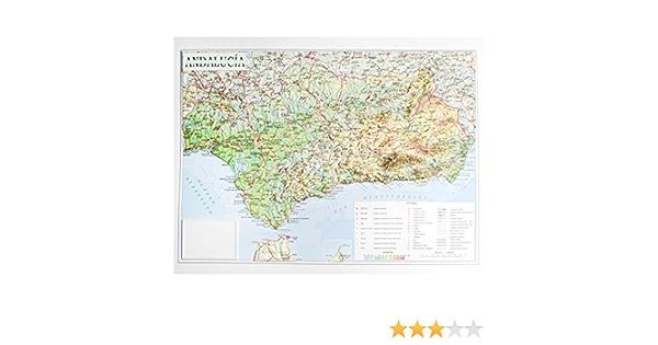 Mapa en relieve de Andalucía: Escala 1:1.200.000: Amazon.es: All 3D Form, S.L.: Libros