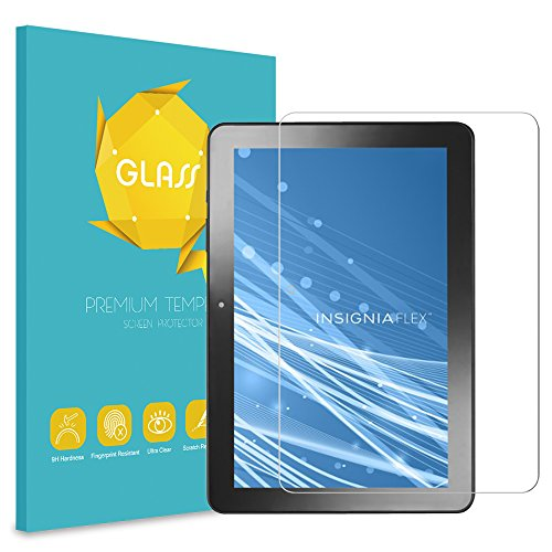Fintie Insignia 10.1 Inch Tablet Tempered Glass Screen Protector - [Scratch Resistant] Premium HD Clear [9H Hardness] for Insignia Flex 10.1 NS-P10A8100 / NS-P10A7100