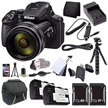 Amazon Nikon COOLPIX P900 16MP Digital Camera Bundle with