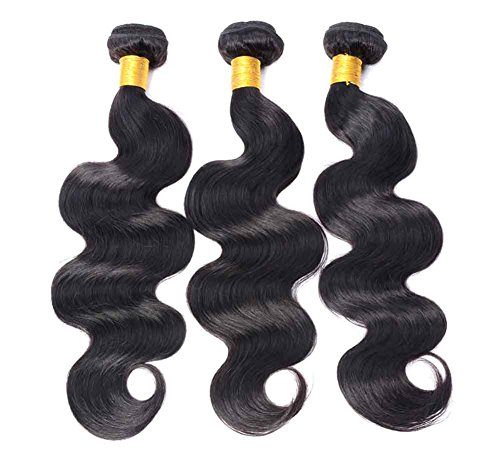 Uniwigs® 3 Bundles; Peruvian Virgin Sew in Weft Weave Hair Extension 300 Grams 4a Grade Quality; Body Wave (12 14 16)