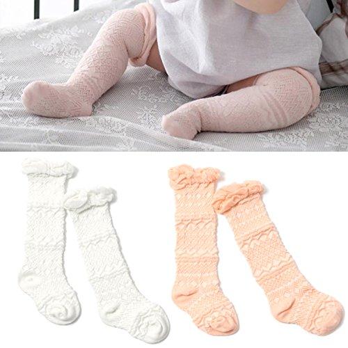 Elesa Miracle 2pc Cozy Soft Toddler Baby Leg Warmers Knee High Stocking Baby Summer Socks Baby Tube Socks