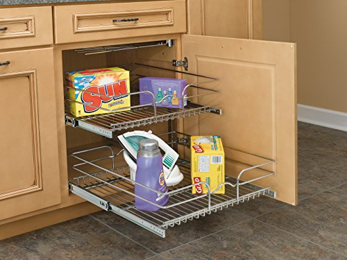 Rev-A-Shelf - 5WB2-2122-CR - 21 in. W x 22 in. D Base Cabinet Pull-Out Chrome 2-Tier Wire Basket by Rev-A-Shelf (Image #1)