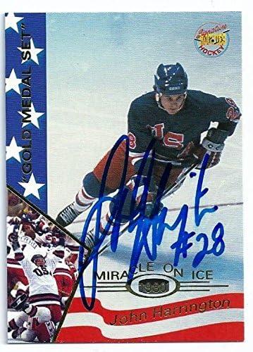 B00D2T7T4G John Harrington Signed Auto 1995 Signature Rookies Miracle on Ice Card Team USA 51bzoaqndoL