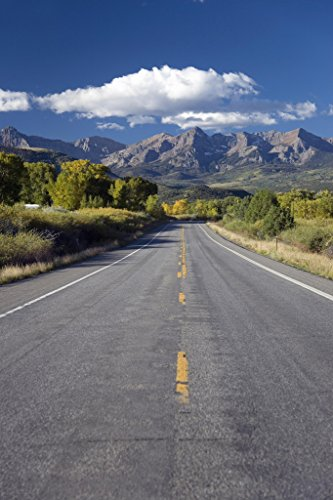 (Colorado Route 62 to Telluride from Ridgeway Photo Art Print Poster 12x18 inch)