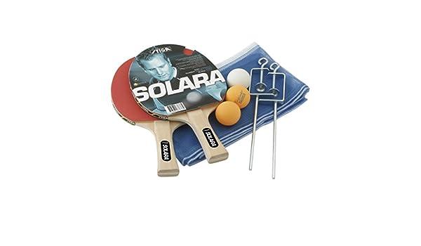 Solara - 2 raquetas + 3 bolas + red + tensor red: Amazon.es ...