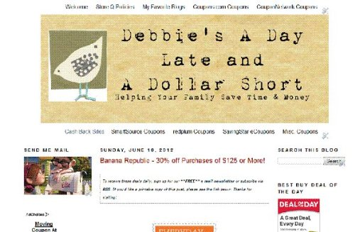Debbie's A Day Late and a Dollar -