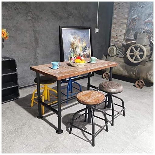 Farmhouse Barstools Topower Farmhouse Kitchen Stool, Industrial Counter Stool, Kitchen Deco Round Seat Standard Height Adjustable Bar Stools… farmhouse barstools