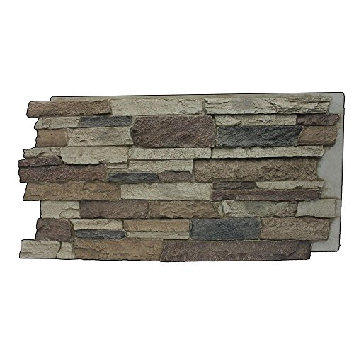 Superior Building Supplies Rustic Lodge 243/4 in x 483/4 in x 11/4 in Faux Mountain Ledge Stone Panel