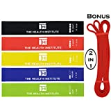 Resistance Loop Bands + Extra Long Band - Set of 6 Exercise Bands, Includes BONUS ($15) 2.1m Extra Long Band for Pull-ups, Yoga, Pilates, Rehabilitation, Strength Training, and Working Out