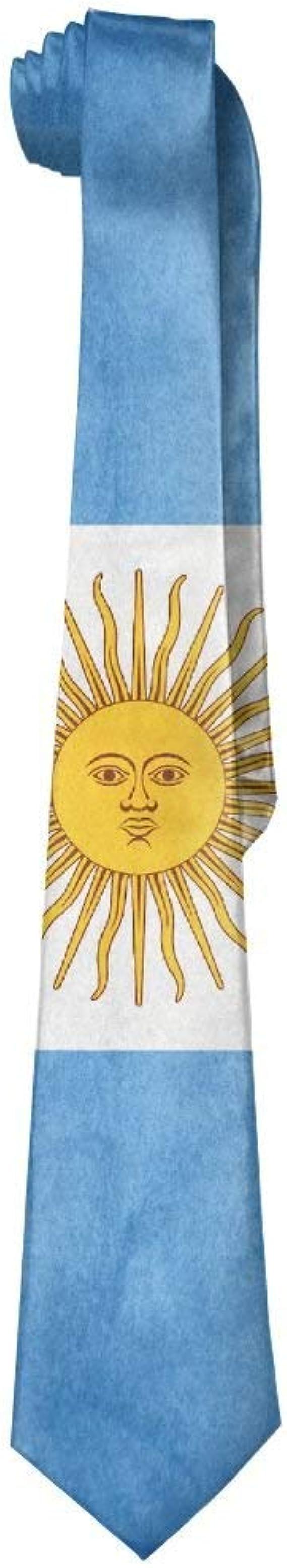 Jxrodekz Corbata vintage de la bandera argentina de los hombres ...