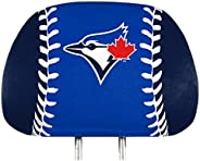 ProMark Blue Jays Printed Color 2-Pack Head Rest Covers Elastic Auto Baseball