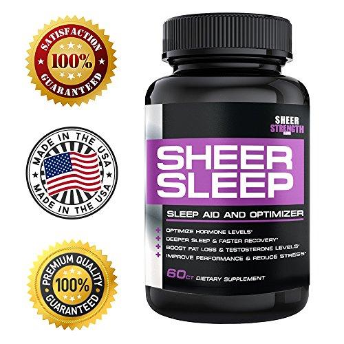 Sheer Natural Sleep Aid Pills Maximum Strength Formula with Melatonin, GABA, Valerian Root and More 60 Vegetarian Sleeping Pills