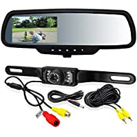 Intraphex Back up Video Mirror TD-CTMD43 4.3 Capacitive Touch Screen with Backup Camera