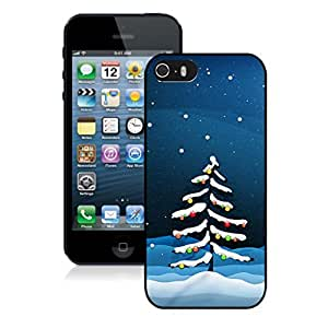 Iphone 5S Case,Snow Christmas Tree Colorful Lights Apple Iphone 5 5S Protective TPU Case