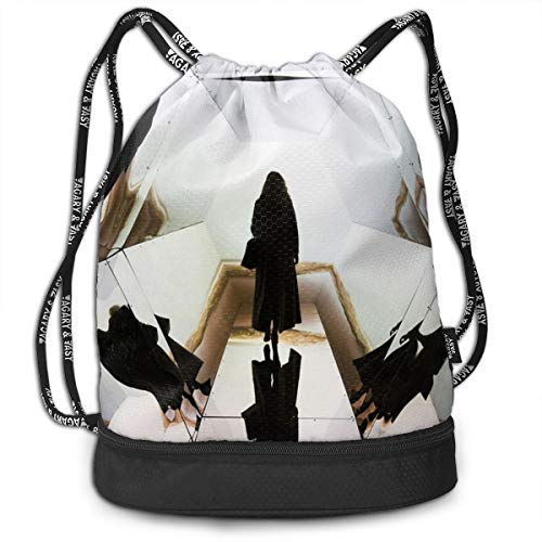 Berasd Art Museum Gallery Architecture Exhibition Multifunctional Beam Drawstring Backpack Unisex Suitable for Outdoor Travel